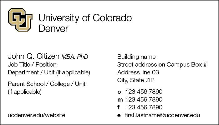 Stationery cu denver cu denver business card front example colourmoves