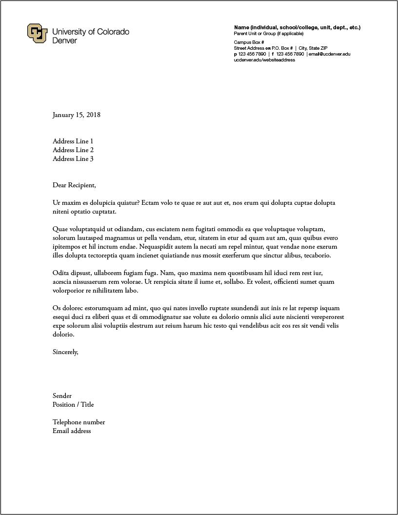 Stationery cu denver cu denver letterhead option a reheart Image collections