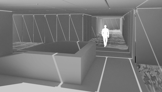 The Narrows rendering of interior space