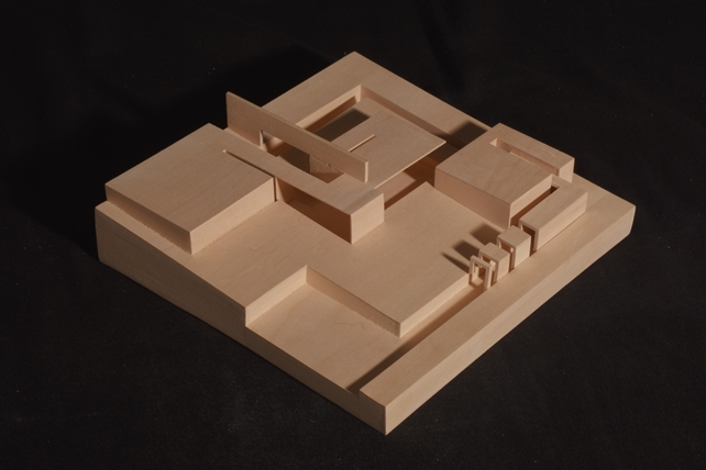 Tea House photograph of architectural model