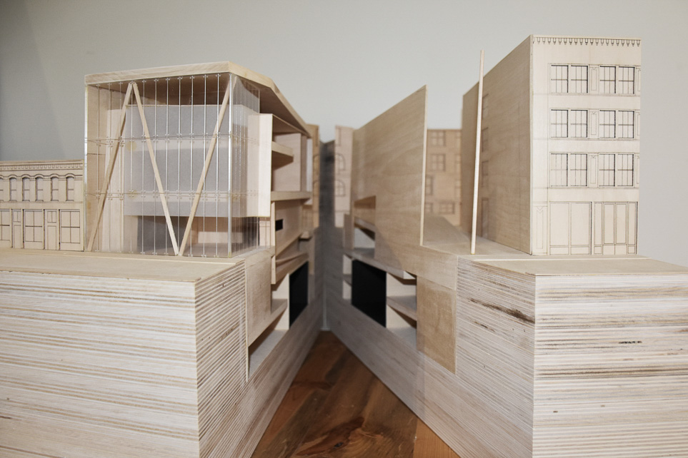 Photograph of wood architectural model