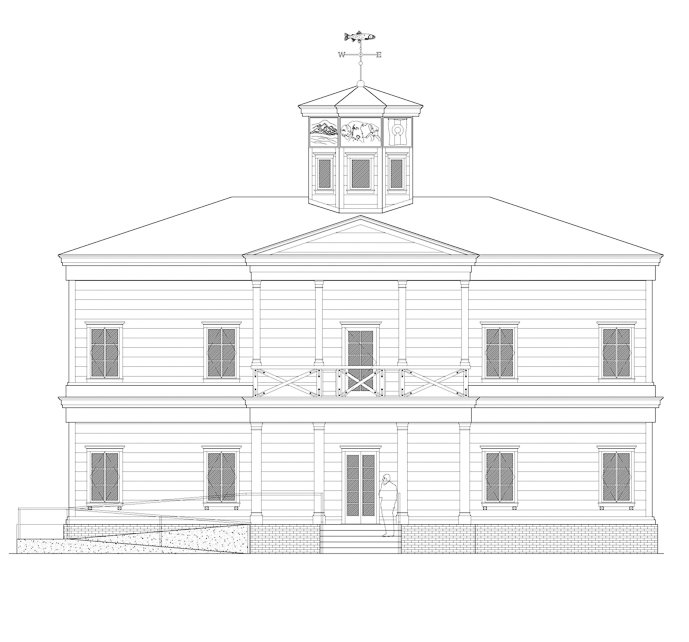 Elevation view drawing