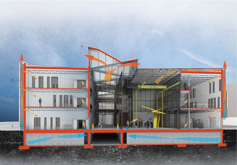 Rendering of section view