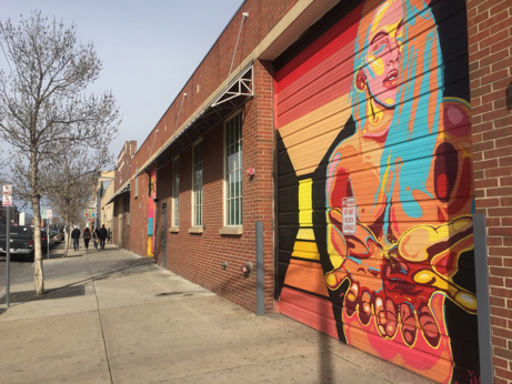 Image showing street art in a creative district