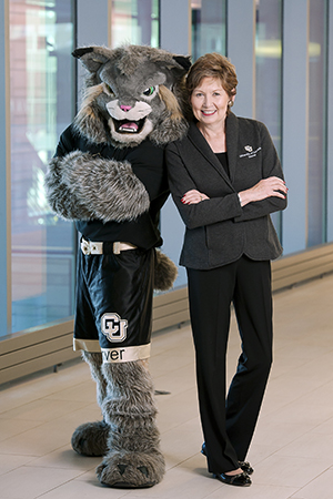 Chancellor Horrell with Milo