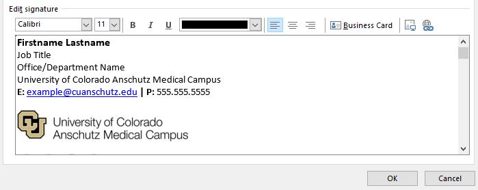Desktop Email Signature Instructions