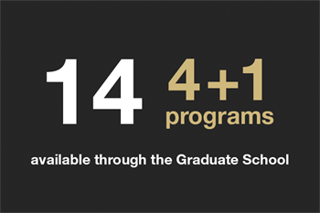 Fourteen four plus one programs available through the graduate school
