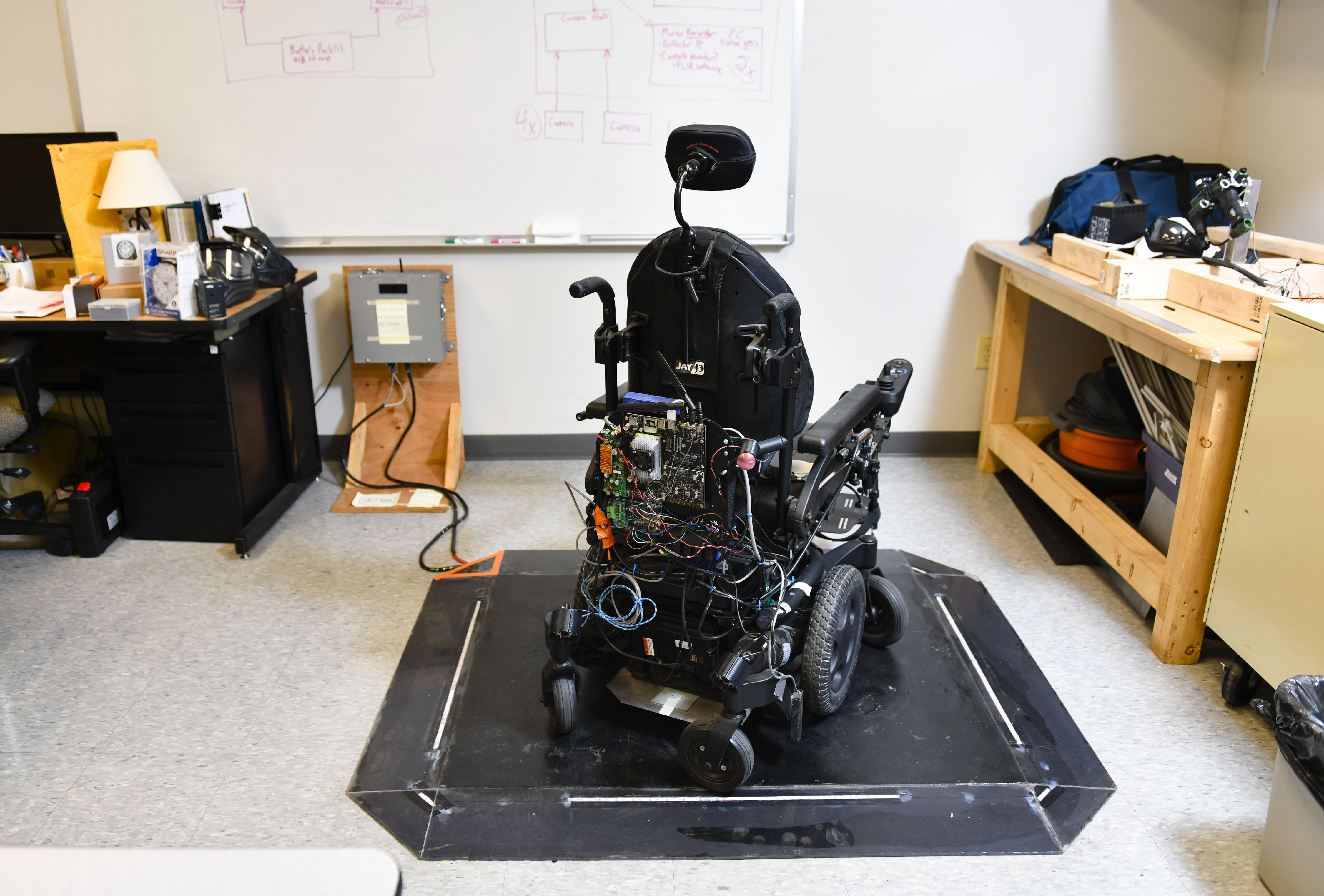 wireless charging power wheelchair